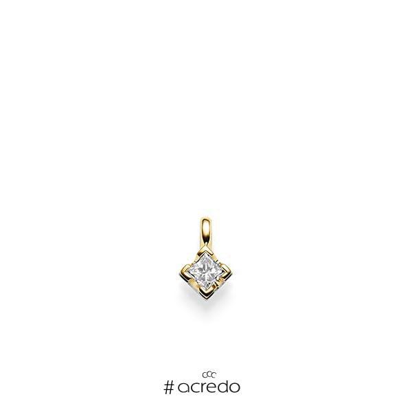 Anhänger in Gelbgold 585 mit 0,3 ct. Prinzess-Diamant tw, vs von acredo