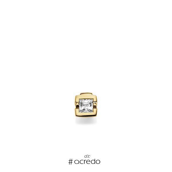 Anhänger in Gelbgold 585 mit 0,4 ct. Prinzess-Diamant tw, vs von acredo