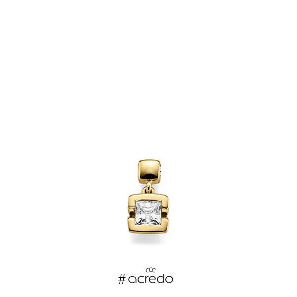 Anhänger in Gelbgold 585 mit 0,5 ct. Prinzess-Diamant tw, vs von acredo