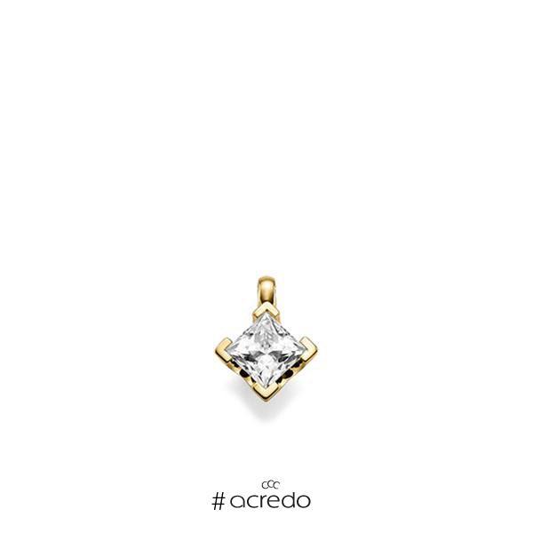 Anhänger in Gelbgold 585 mit 1 ct. Prinzess-Diamant tw, vs von acredo