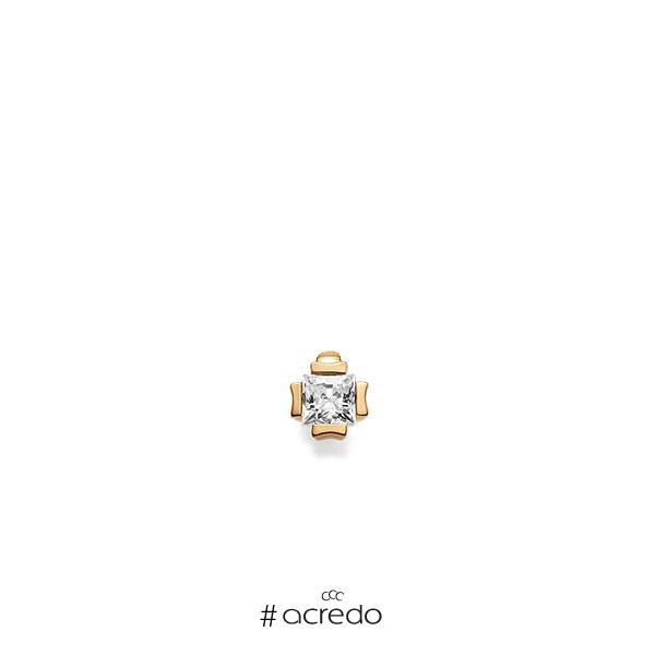 Anhänger in Roségold 585 mit 0,3 ct. Prinzess-Diamant tw, vs von acredo