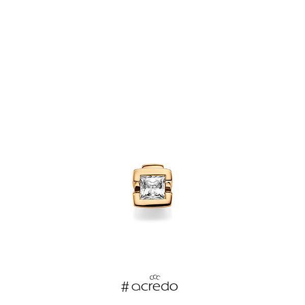 Anhänger in Roségold 585 mit 0,4 ct. Prinzess-Diamant tw, vs von acredo