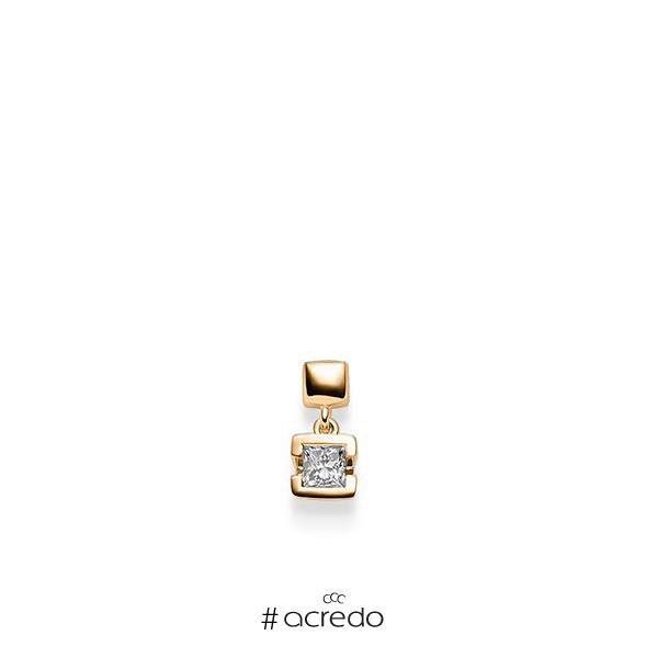 Anhänger in Roségold 585 mit zus. 0,25 ct. Prinzess-Diamant tw, si von acredo