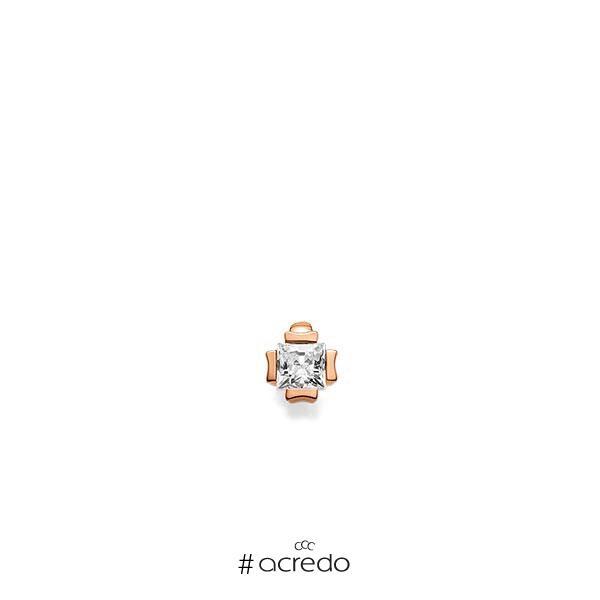 Anhänger in Rotgold 585 mit 0,3 ct. Prinzess-Diamant tw, vs von acredo