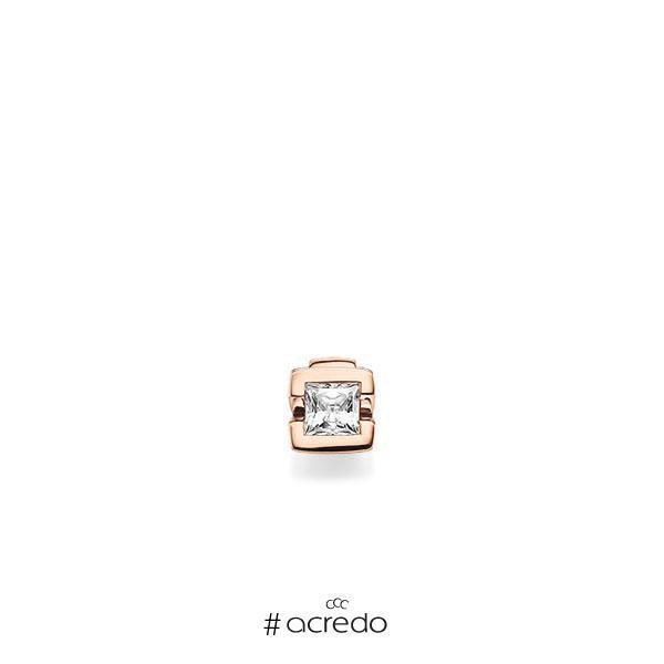 Anhänger in Rotgold 585 mit 0,4 ct. Prinzess-Diamant tw, vs von acredo