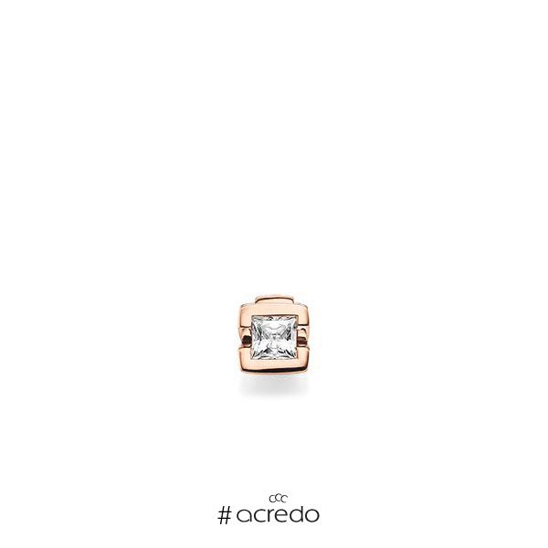 Anhänger in Rotgold 585 mit 0,5 ct. Prinzess-Diamant tw, vs von acredo