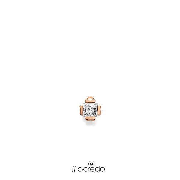 Anhänger in Rotgold 585 mit zus. 0,25 ct. Prinzess-Diamant tw, vs von acredo