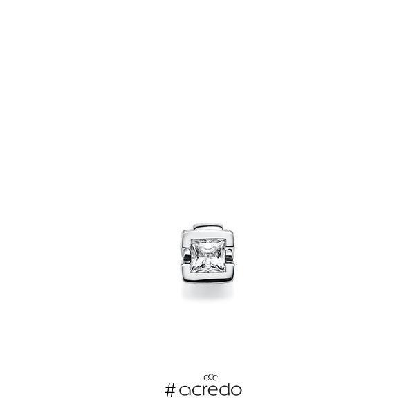 Anhänger in Weißgold 585 mit 0,4 ct. Prinzess-Diamant tw, vs von acredo