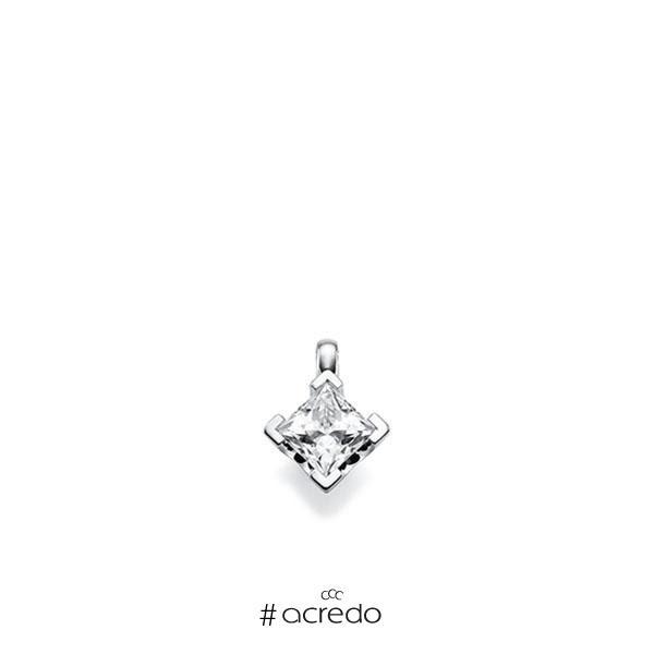Anhänger in Weißgold 585 mit 0,7 ct. Prinzess-Diamant tw, vs von acredo