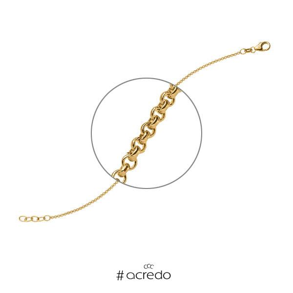 Armband in Gelbgold 585 von acredo