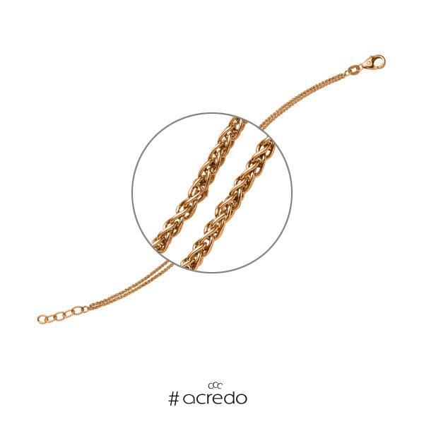 Armband in Roségold 585 von acredo