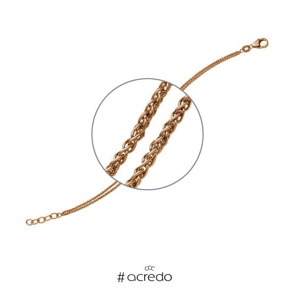Armband in Rotgold 585 von acredo