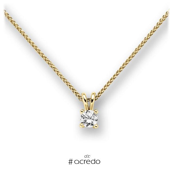 Collier in Gelbgold 585 mit 0,3 ct. Brillant tw, vs von acredo