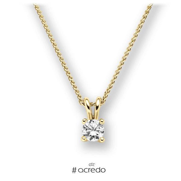 Collier in Gelbgold 585 mit 0,4 ct. Brillant tw, vs von acredo