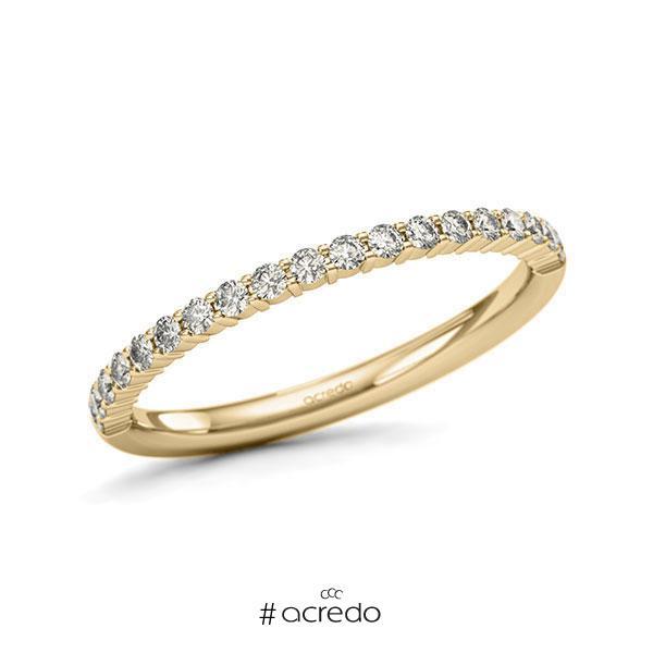 Memoire/Diamantring in Gelbgold 585 halbausgefasst mit zus. 0,285 ct. Brillant tw, si von acredo