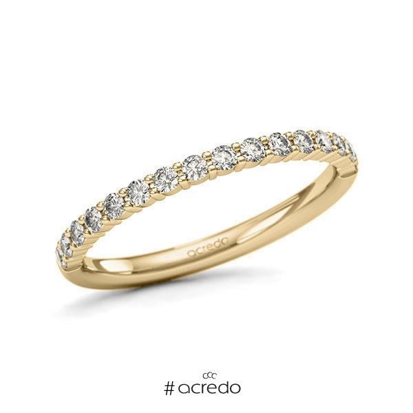 Memoire/Diamantring in Gelbgold 585 halbausgefasst mit zus. 0,32 ct. Brillant tw, si von acredo