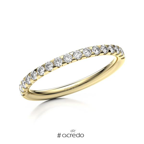 Memoire/Diamantring in Gelbgold 585 halbausgefasst mit zus. 0,34 ct. Brillant tw, si von acredo