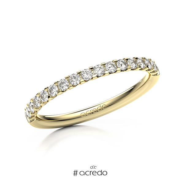 Memoire/Diamantring in Gelbgold 585 halbausgefasst mit zus. 0,34 ct. Brillant tw, vs von acredo