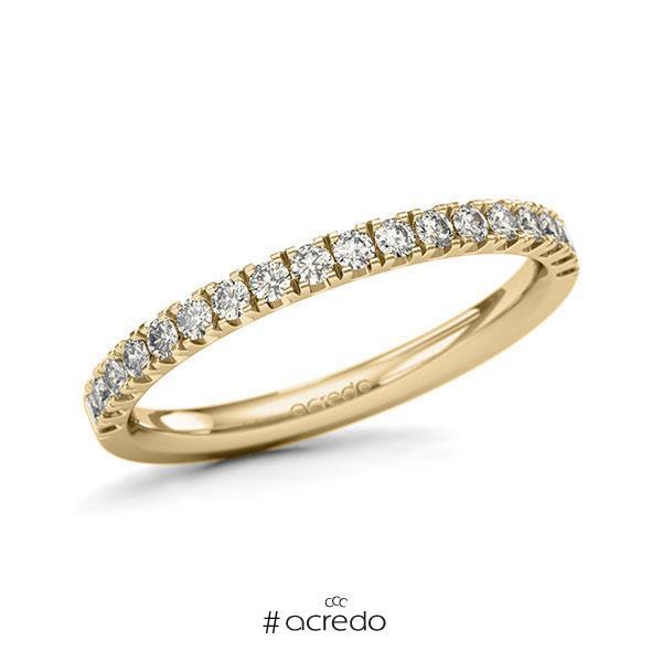 Memoire/Diamantring in Gelbgold 585 halbausgefasst mit zus. 0,36 ct. Brillant tw, si von acredo