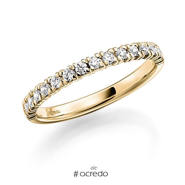 Memoire/Diamantring in Gelbgold 585 halbausgefasst mit zus. 0,38 ct. Brillant tw, vs von acredo