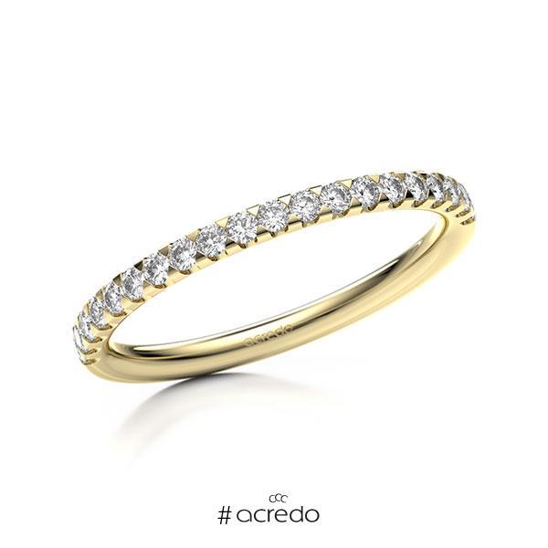 Memoire/Diamantring in Gelbgold 585 halbausgefasst mit zus. 0,3 ct. Brillant tw, si von acredo
