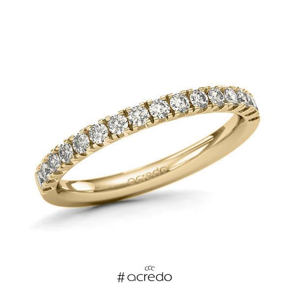 Memoire/Diamantring in Gelbgold 585 halbausgefasst mit zus. 0,48 ct. Brillant tw, si von acredo