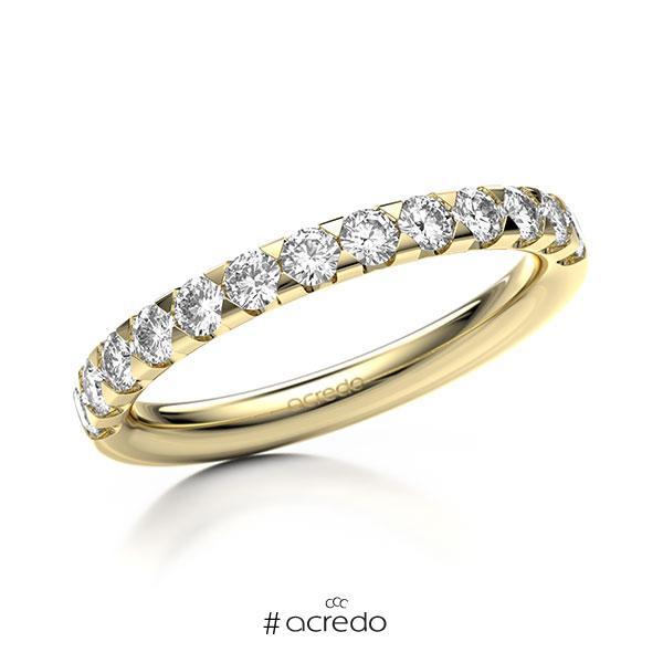 Memoire/Diamantring in Gelbgold 585 halbausgefasst mit zus. 0,65 ct. Brillant tw, si von acredo