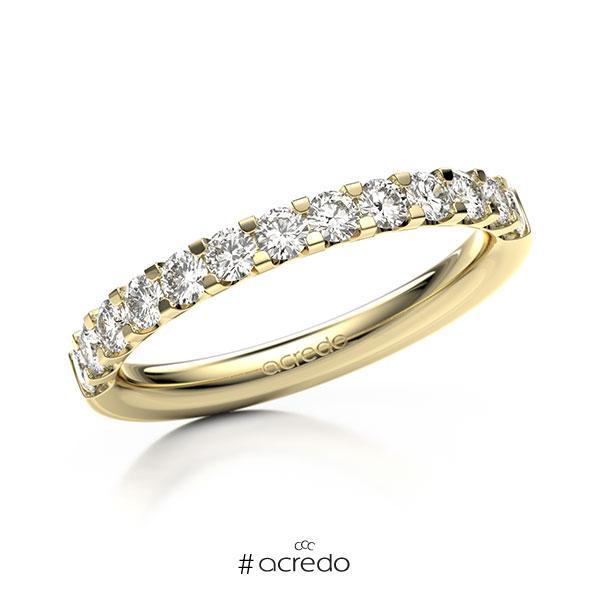 Memoire/Diamantring in Gelbgold 585 halbausgefasst mit zus. 0,65 ct. Brillant tw, vs von acredo