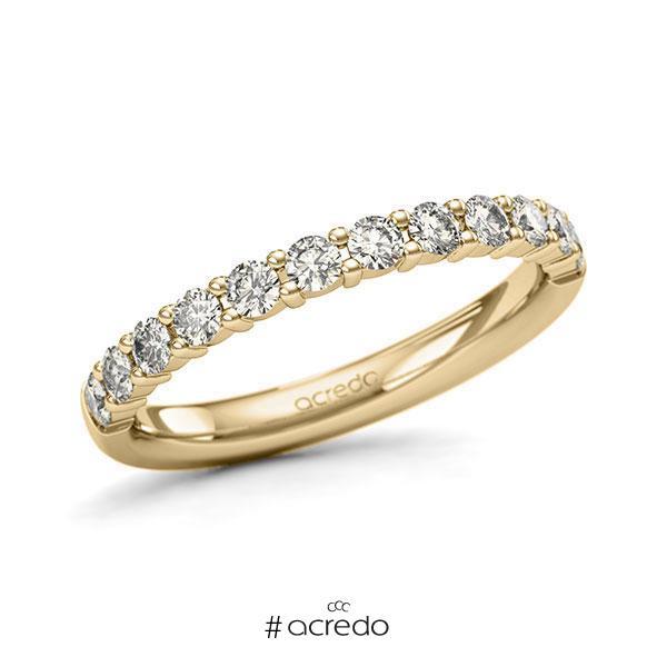 Memoire/Diamantring in Gelbgold 585 halbausgefasst mit zus. 0,6 ct. Brillant tw, si von acredo