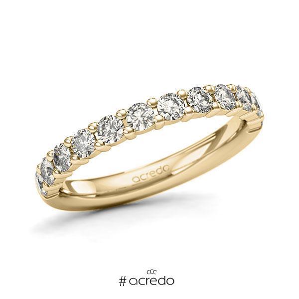 Memoire/Diamantring in Gelbgold 585 halbausgefasst mit zus. 0,72 ct. Brillant tw, si von acredo