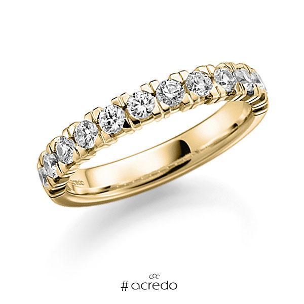 Memoire/Diamantring in Gelbgold 585 halbausgefasst mit zus. 0,72 ct. Brillant tw, vs von acredo