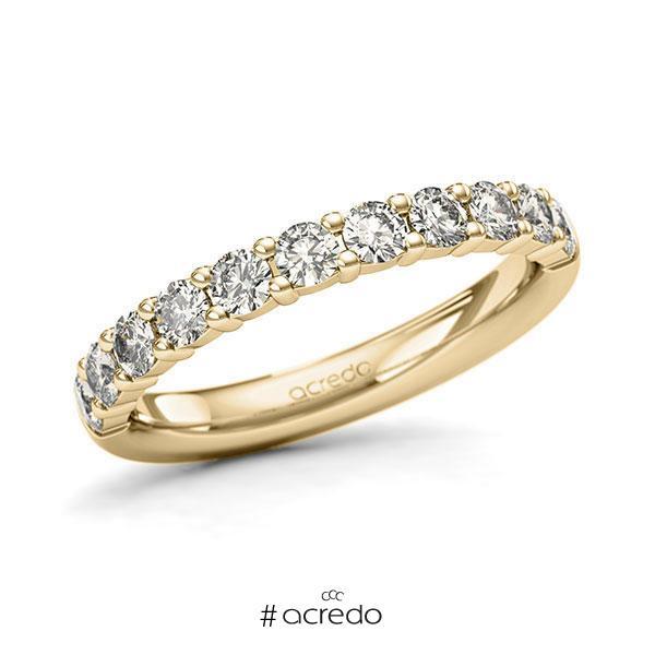 Memoire/Diamantring in Gelbgold 585 halbausgefasst mit zus. 0,77 ct. Brillant tw, si von acredo