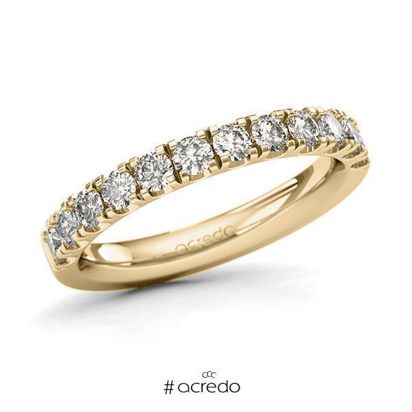 Memoire/Diamantring in Gelbgold 585 halbausgefasst mit zus. 0,84 ct. Brillant tw, si von acredo