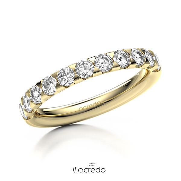 Memoire/Diamantring in Gelbgold 585 halbausgefasst mit zus. 0,88 ct. Brillant tw, si von acredo