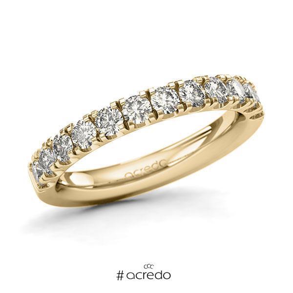 Memoire/Diamantring in Gelbgold 585 halbausgefasst mit zus. 0,96 ct. Brillant tw, si von acredo