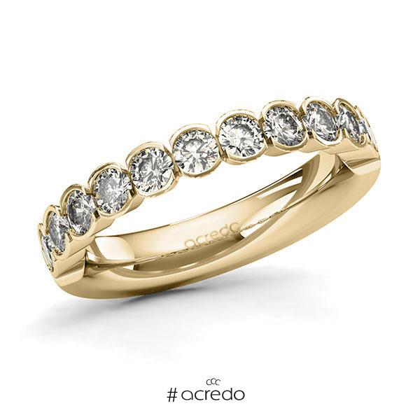 Memoire/Diamantring in Gelbgold 585 halbausgefasst mit zus. 1,1 ct. Brillant tw, si von acredo