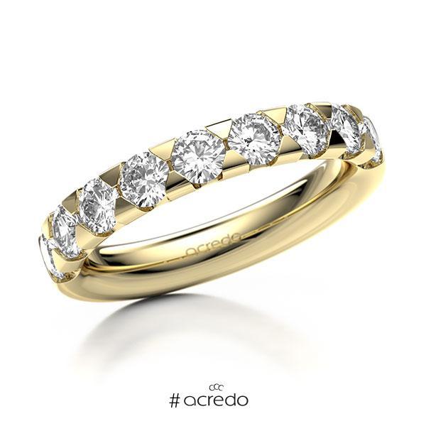 Memoire/Diamantring in Gelbgold 585 halbausgefasst mit zus. 1,35 ct. Brillant tw, si von acredo