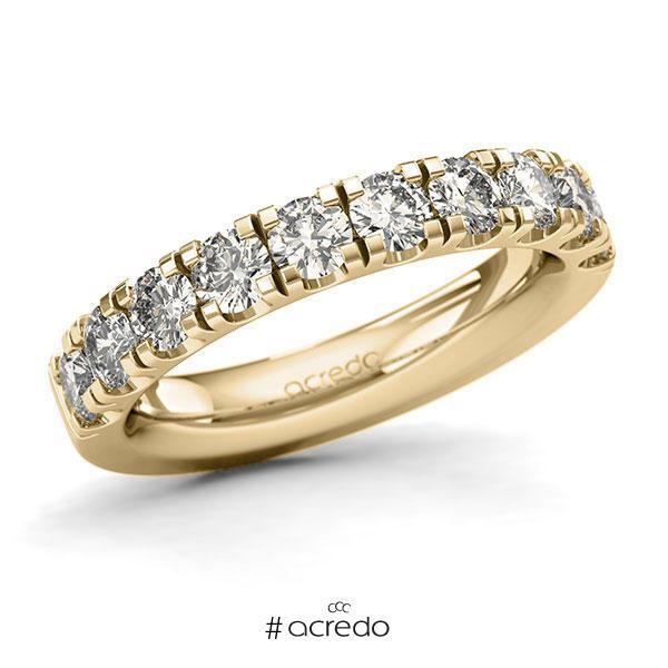Memoire/Diamantring in Gelbgold 585 halbausgefasst mit zus. 1,5 ct. Brillant tw, si von acredo