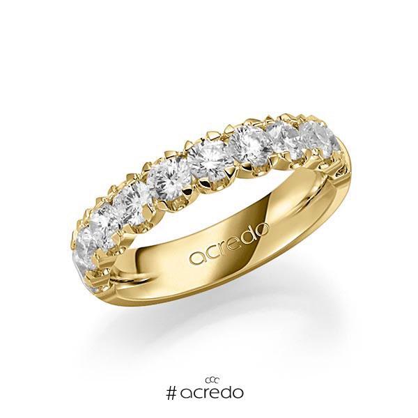 Memoire/Diamantring in Gelbgold 585 halbausgefasst mit zus. 1,5 ct. Brillant tw, vs von acredo