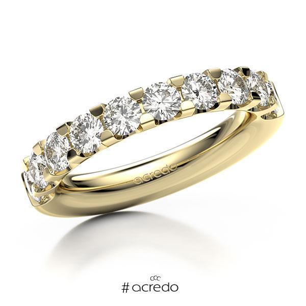 Memoire/Diamantring in Gelbgold 585 halbausgefasst mit zus. 1,6 ct. Brillant tw, vs von acredo