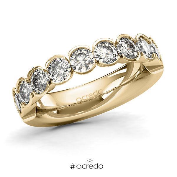 Memoire/Diamantring in Gelbgold 585 halbausgefasst mit zus. 1,8 ct. Brillant tw, si von acredo