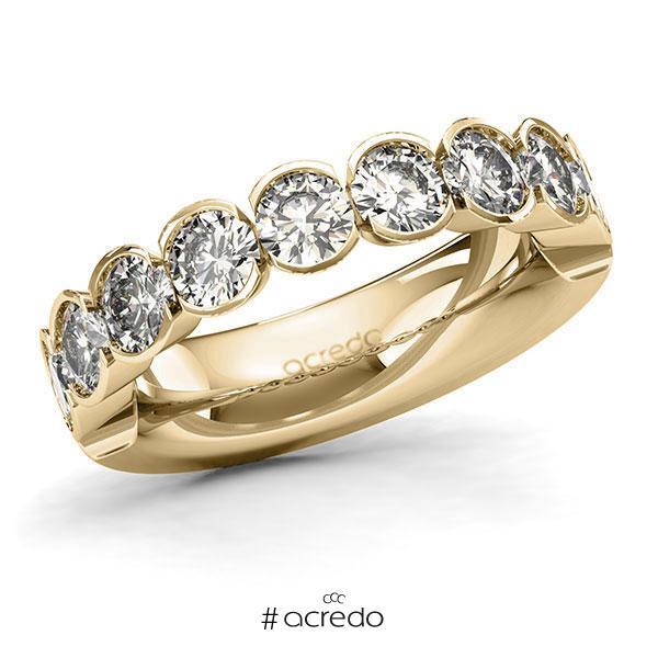 Memoire/Diamantring in Gelbgold 585 halbausgefasst mit zus. 2,25 ct. Brillant tw, si von acredo
