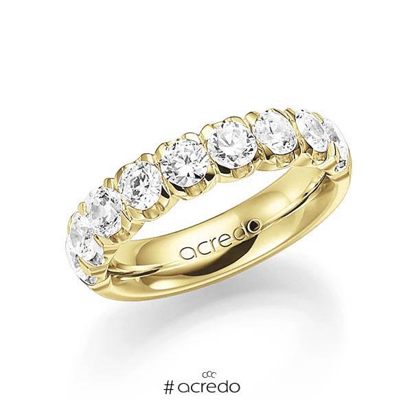 Memoire/Diamantring in Gelbgold 585 halbausgefasst mit zus. 2 ct. Brillant tw, vs von acredo