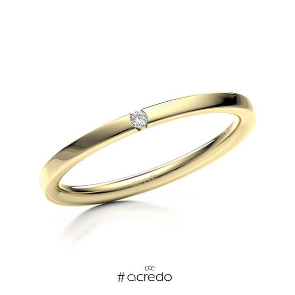 Memoire/Diamantring in Gelbgold 585 mit zus. 0,015 ct. Brillant tw, si von acredo