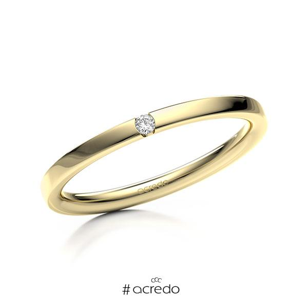 Memoire/Diamantring in Gelbgold 585 mit zus. 0,02 ct. Brillant tw, si von acredo