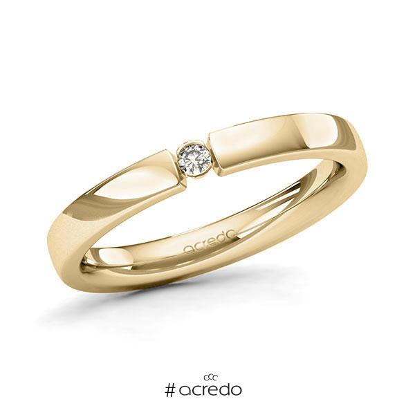 Memoire/Diamantring in Gelbgold 585 mit zus. 0,04 ct. Brillant tw, si von acredo