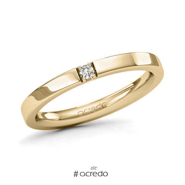 Memoire/Diamantring in Gelbgold 585 mit zus. 0,04 ct. Brillant tw, si von acredo