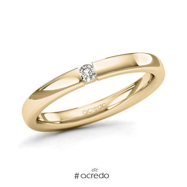 Memoire/Diamantring in Gelbgold 585 mit zus. 0,06 ct. Brillant tw, si von acredo