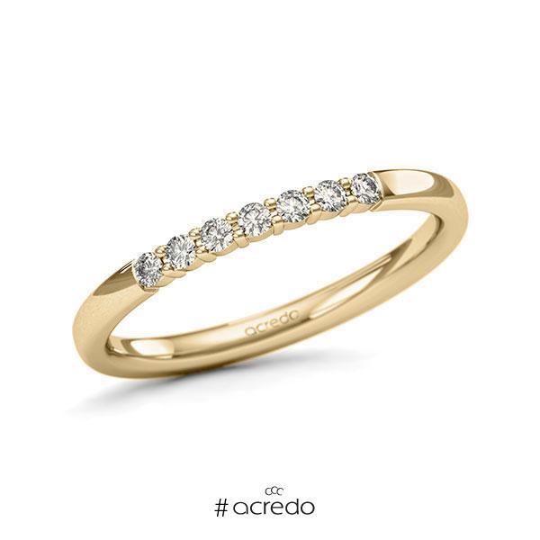 Memoire/Diamantring in Gelbgold 585 mit zus. 0,14 ct. Brillant tw, si von acredo