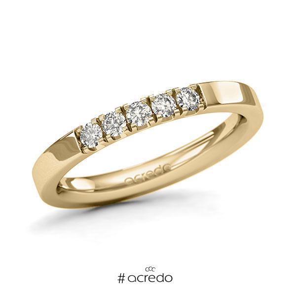 Memoire/Diamantring in Gelbgold 585 mit zus. 0,25 ct. Brillant tw, si von acredo